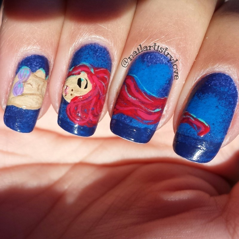 Ariel nail art by Julia