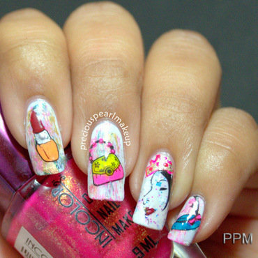 Women's Day Nails nail art by Pearl P.