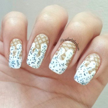 Cookies N Cream nail art by Julia