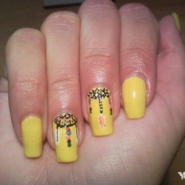 Dreamcatcher nails nail art by Rita Mirabela