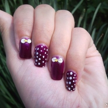 Bow nails nail art by Rita Mirabela