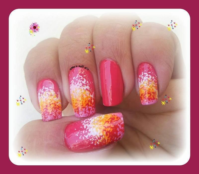 flower patels.. nail art by Uma mathur
