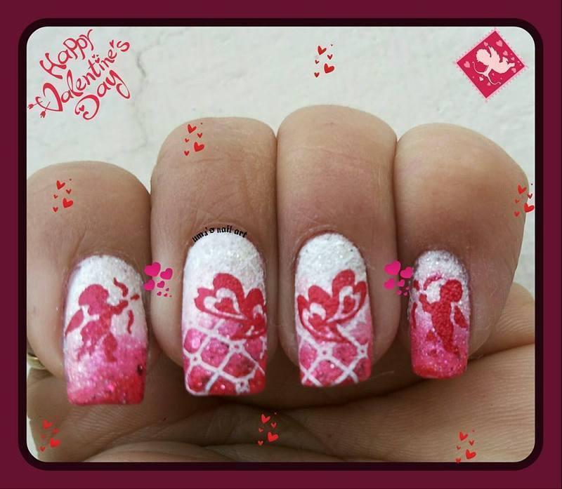 valentine nail art by Uma mathur
