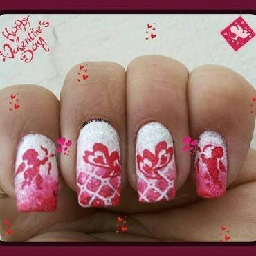 valentine nail art by Uma mathur