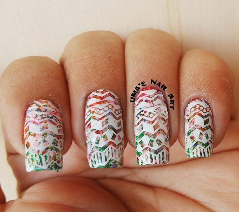 trible nail art by Uma mathur