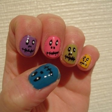 Monster Nails nail art by Lina-Elvira