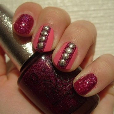 Rockin' Purple nail art by Lina-Elvira