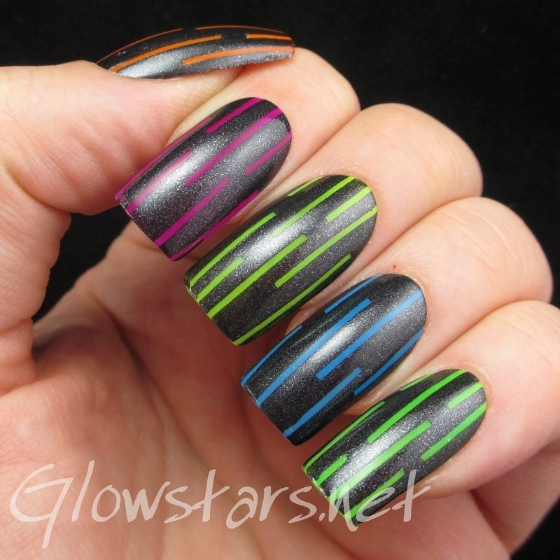 When You Fall Apart... nail art by Vic 'Glowstars' Pires