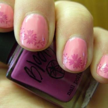 Cherry Blossom nail art by Lina-Elvira