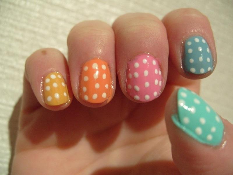 Easter Egg Skittles nail art by Lina-Elvira