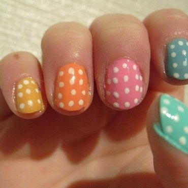 Easter Egg Skittles nail art by Lina-Elvira