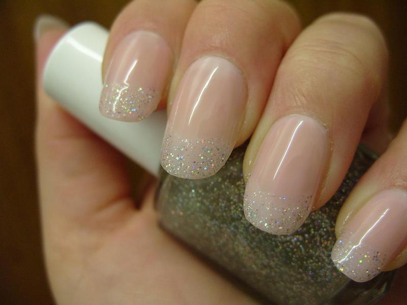 Holo French Super Nails nail art by Lina-Elvira