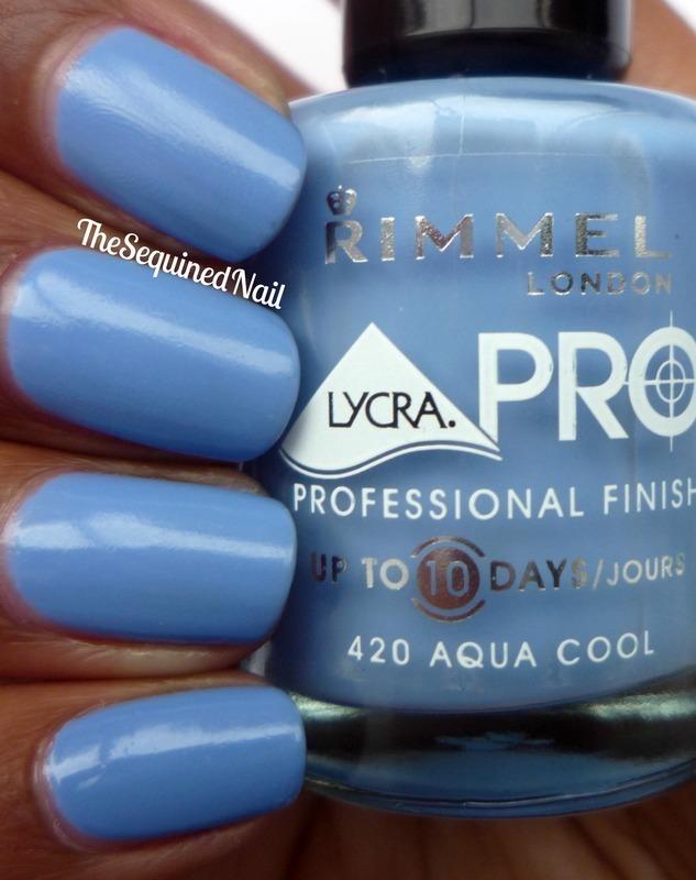 Rimmel London Lycra Pro Aqua Cool Swatch by TheSequinedNail