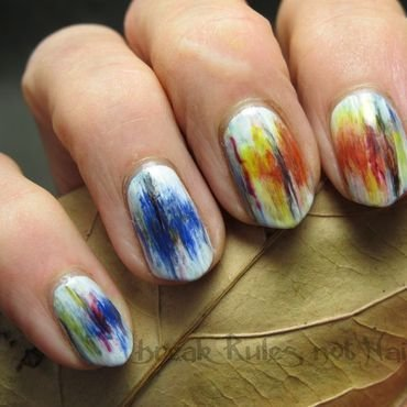 Inspired by Mirza Zupljanin  nail art by Michelle