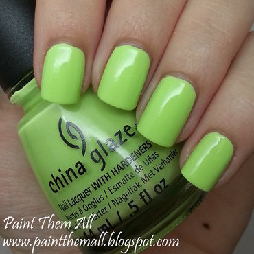 China Glaze grass is lime greener Swatch by Yael S