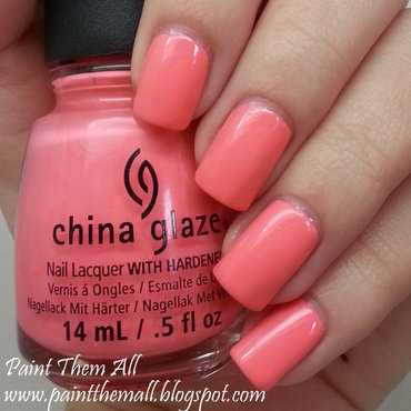 China Glaze Petal To The Metal Swatch by Yael S