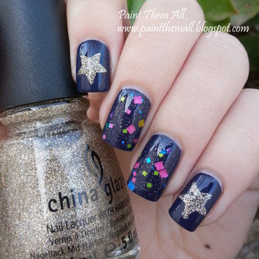 Galaxy Manicure with Only 3 Polishes nail art by Yael S