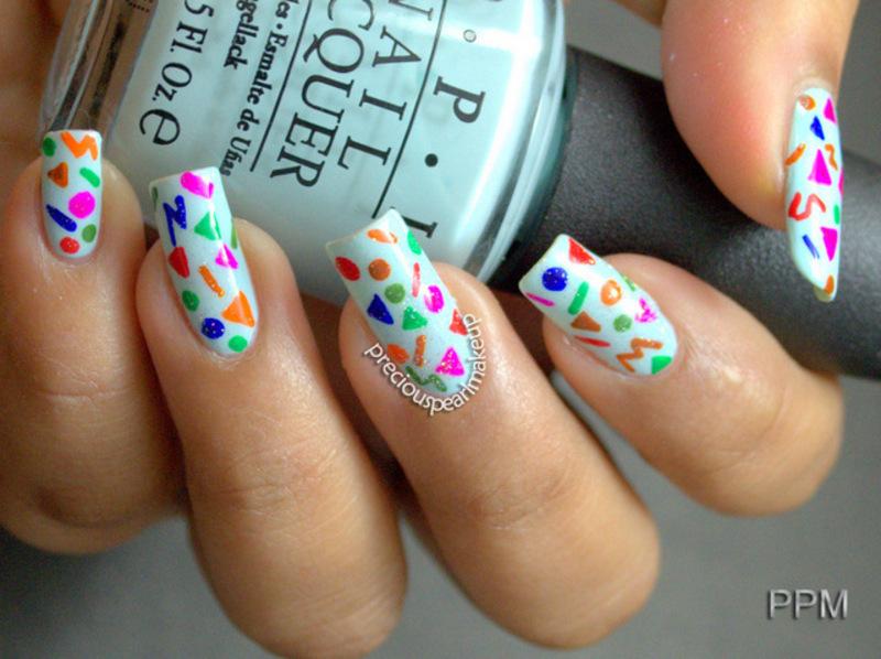 Confetti Nails nail art by Pearl P. - Nailpolis: Museum of Nail Art