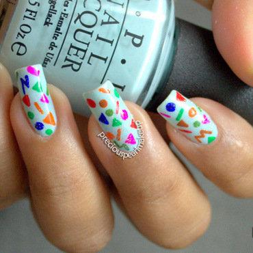 Confetti Nails nail art by Pearl P.