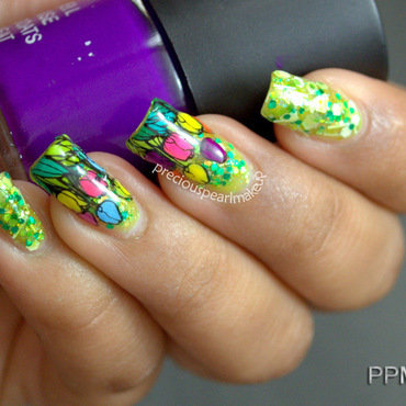 Tulips  nail art by Pearl P.