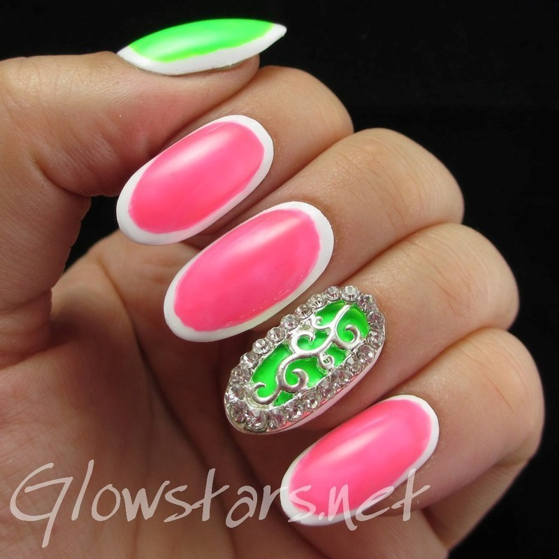 Featuring Born Pretty Store Rhinestoned Nail Decoration nail art by Vic 'Glowstars' Pires