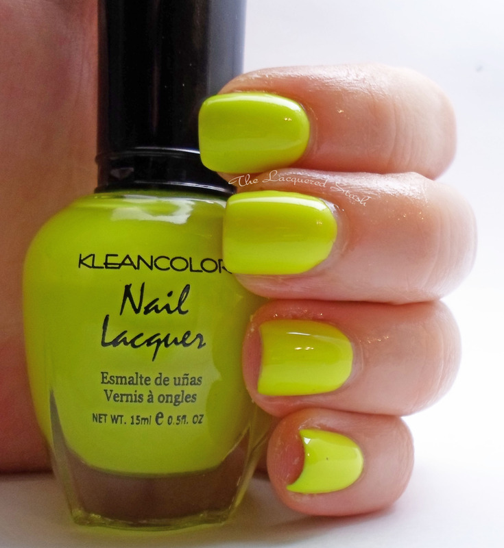 Kleancolor Neon Lime Swatch by Emma N.