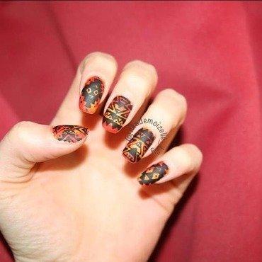Aztec Nail Art nail art by Emilie