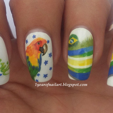 Brasil world cup nails thumb370f