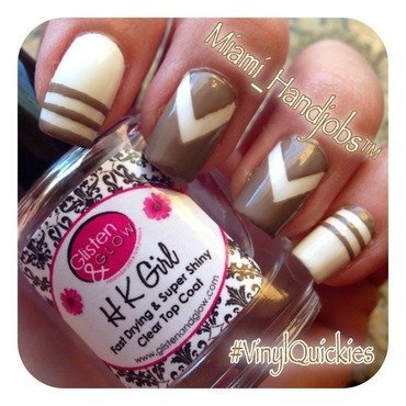 Elegant brown.  nail art by Miami_handjobs