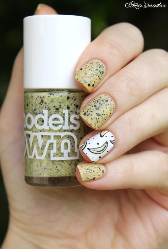 Banana nails! nail art by Cocosnailss