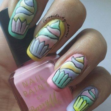 Pastel cupcakes nail art by Danielle  Hails