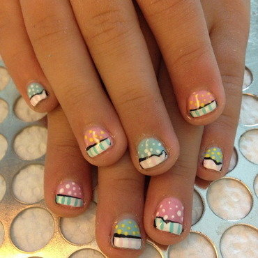 Sweet Cakes nail art by Victoria Zegarelli nail bar Lounge