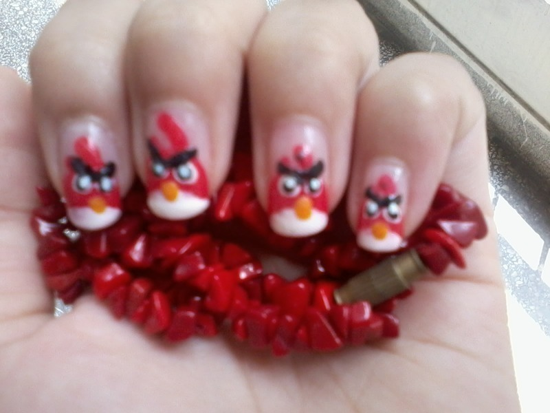 Angry Bird Nail Art nail art by Haniya Sajid - Nailpolis: Museum of ...