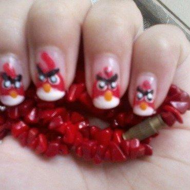 Angry Bird Nail Art nail art by Haniya Sajid