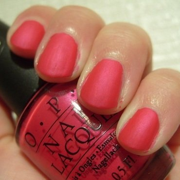 OPI La Paz-Itively Hot Matte Swatch by Lina-Elvira