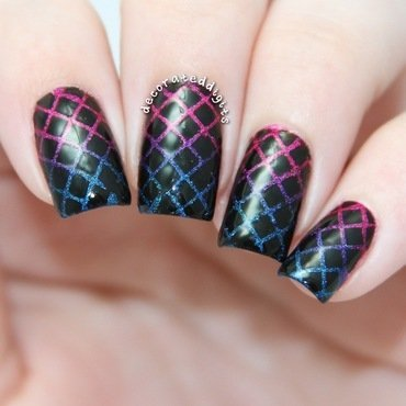 Holo Diamonds nail art by Jordan