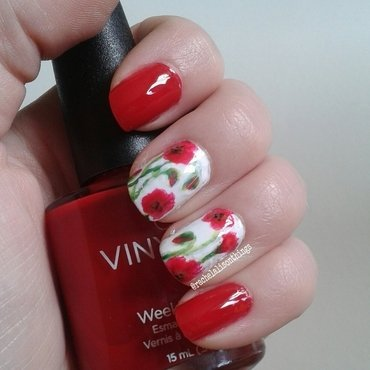 Abstract Poppies nail art by rachelalisonthings