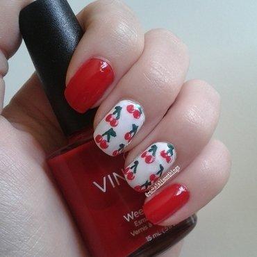 Cherries  nail art by rachelalisonthings