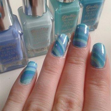Blue Water Marble nail art by rachelalisonthings