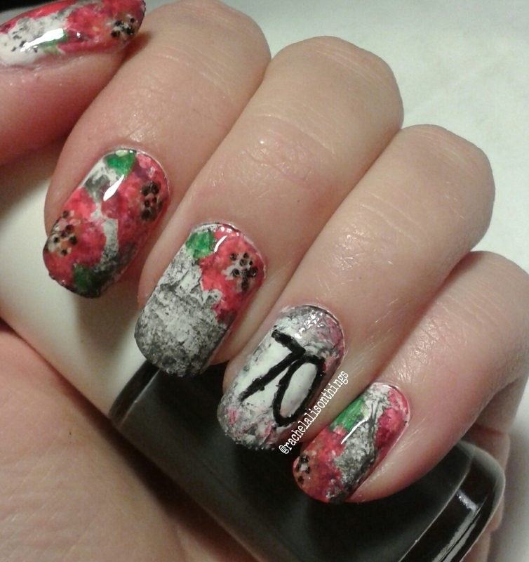D-Day70  nail art by rachelalisonthings