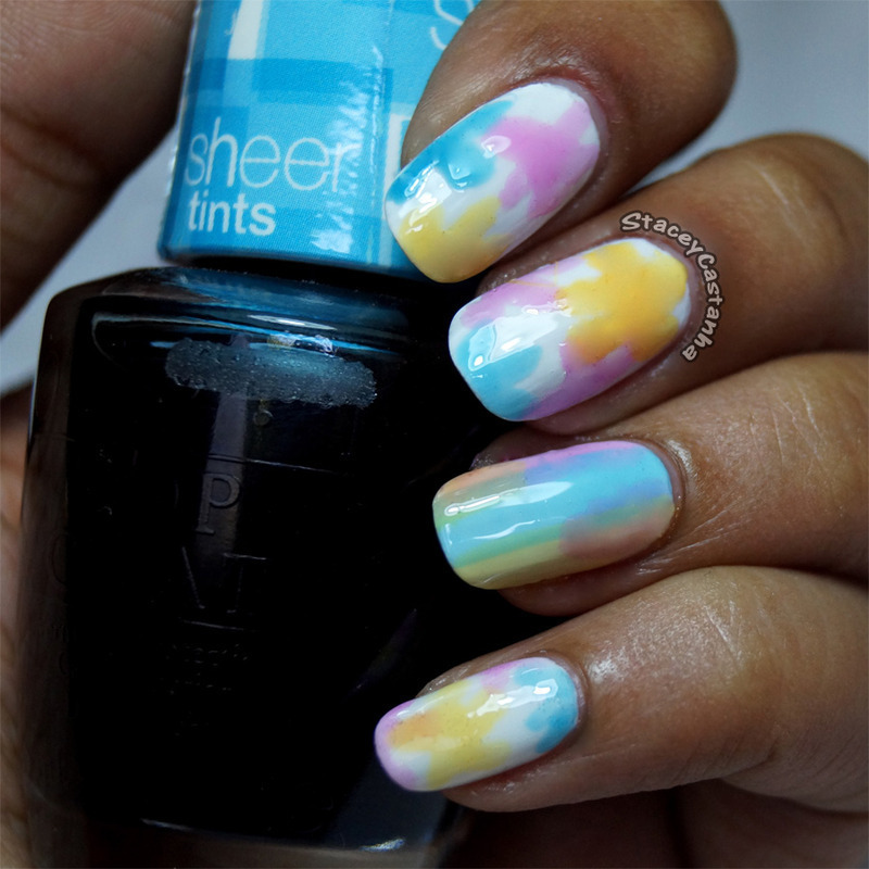 Sheer Flowers. nail art by Stacey  Castanha