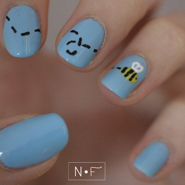 Bee nail art by NerdyFleurty