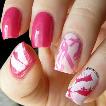 Avon Walk for Breast cancer. nail art by Ewlyn