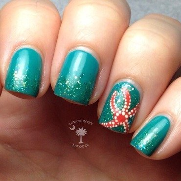 Starfish Nails nail art by Danele - lowcountry lacquer