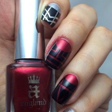Art Deco nails nail art by Beautyfitmom