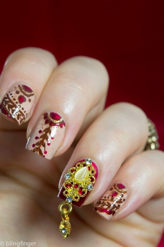 Indian Bridal Nails nail art by  Petra  - Blingfinger