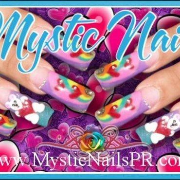 Colorful Valentine ♥ by Jennifer Perez nail art by Jennifer Perez ♥ Mystic Nails