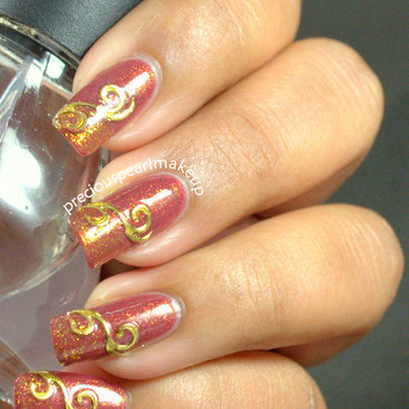 Golden nail art 1 thumb370f