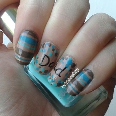Father's Day nails nail art by rachelalisonthings