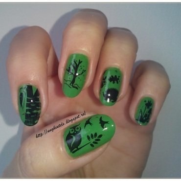Forest nail art by Oana  Alexandru